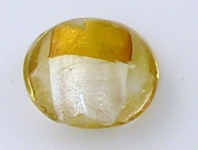 10 Silver foil Murano glass beads 20mm Gold